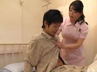Asian mindfulness drops their way panties to ride a patient's stiff dick